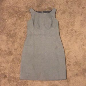 Tight gray business dress